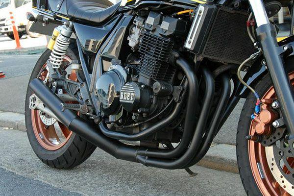 ZRX400/Ⅱイカシタショート管ZZYA管(ジーヤ管)ブラック