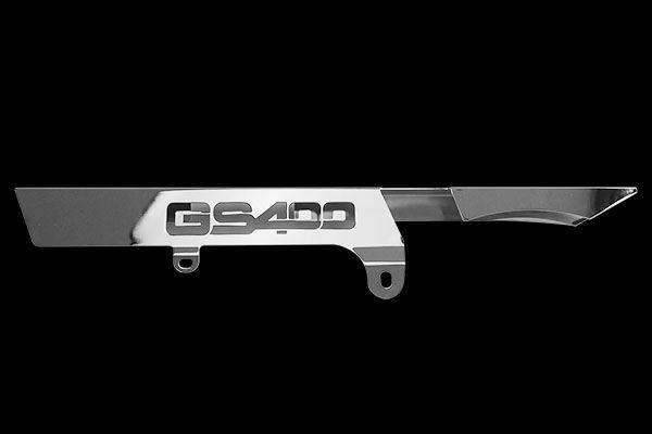 GS400切り文字メッキチェーンケース